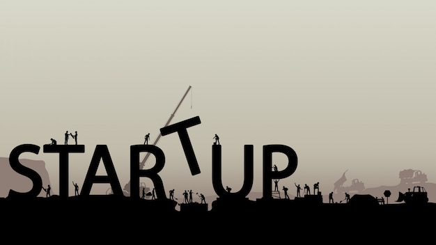 Building startup silhouettes