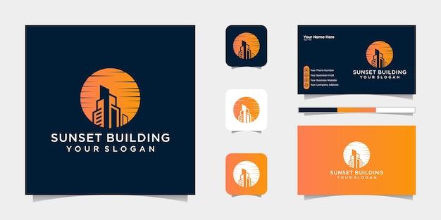 Создание логотипа заката и визитной карточки