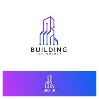 건물 기술 템플릿, 로고 디자인 영감