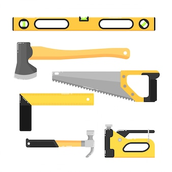 Building tools isolated on white