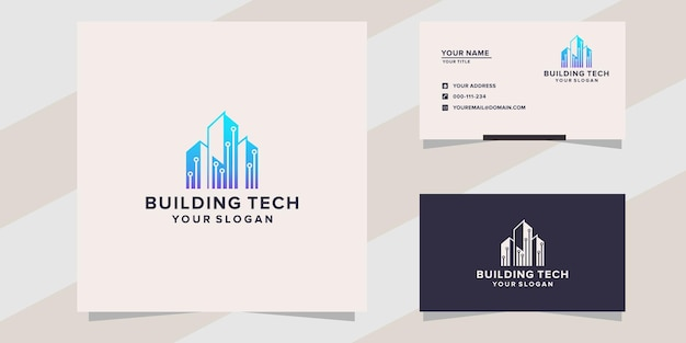 Building with technology logo template