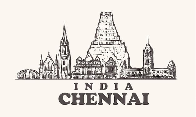 Buildings of chennai in india