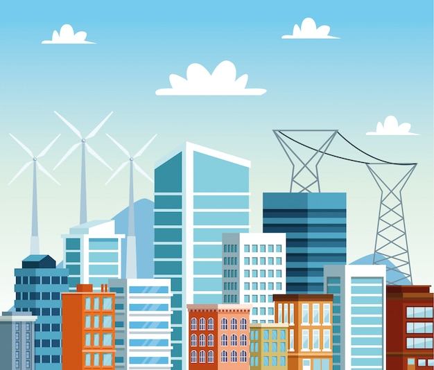 建物都市景観シーンs
