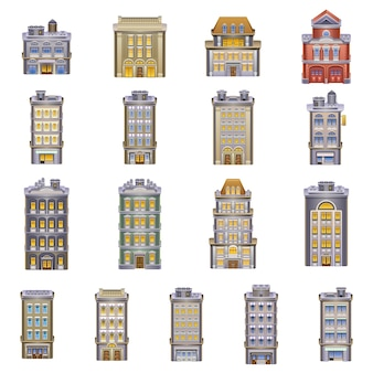 Buildings icons. detailed  of a buildings.