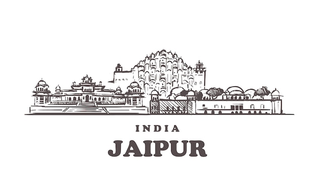 Buildings of jaipur in india