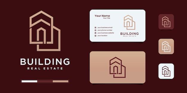 Вдохновение дизайна логотипа недвижимости зданий.