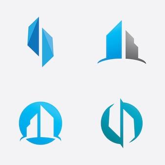 Вектор логотипа недвижимости зданий