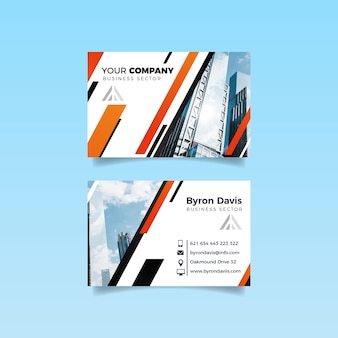 Buildings and sky design for business card