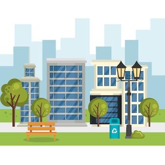 도시 장면 건물