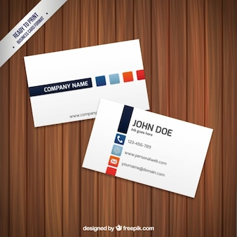 色の正方形とのbuinessカード