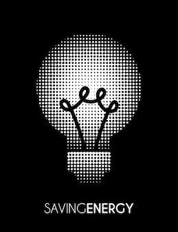 Bulb over black background