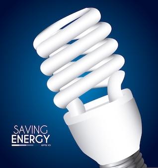 Дизайн лампы над синим