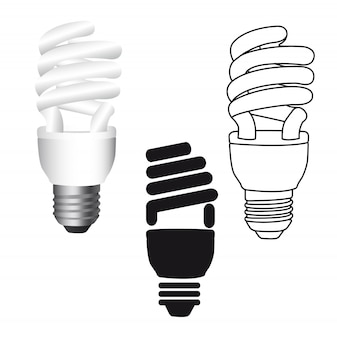 Bulb electric isolated over white background vector illustration