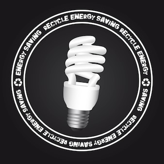 Bulb electric sign over black background vector illustration