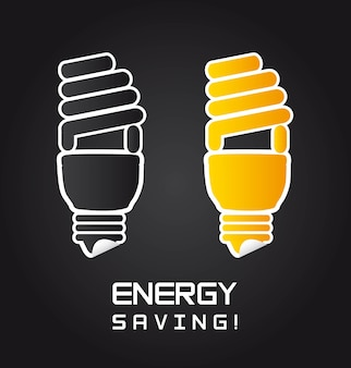 Bulb electric sign over black background vector