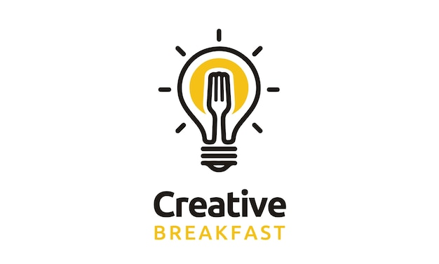 Bulb and fork logo design