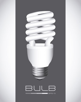 Bulb over gray background