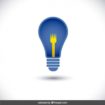 Bulb icon with fork