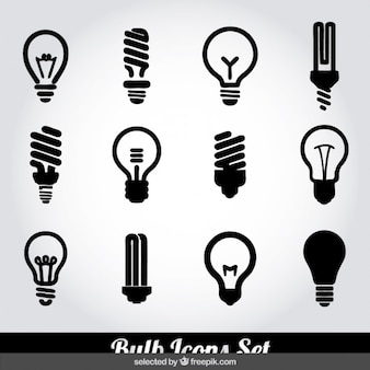 Bulb icons set