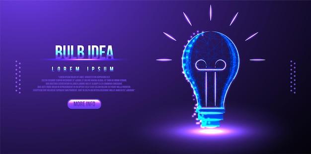 Idea lampadina rete wireframe low poly