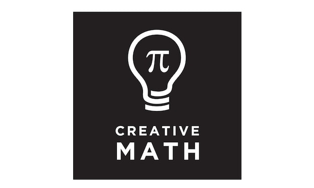Bulb mathematics logo design