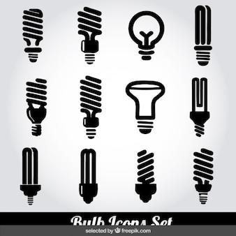 Icone della lampadina monocromatiche