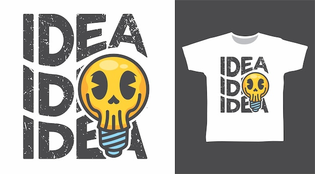 Bulb skull idea tshirt design