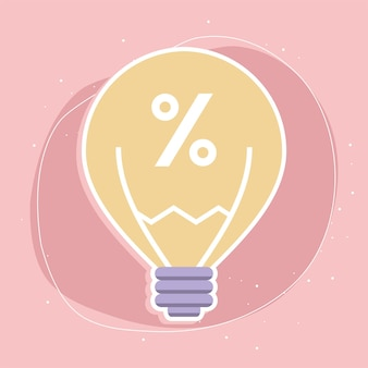 Bulb with percent sign