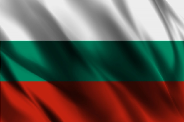 Bulgaria flag waving abstract background