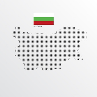 Bulgaria map design with flag and light background vector