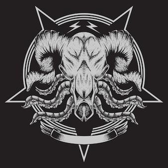 Bull bone tentacle