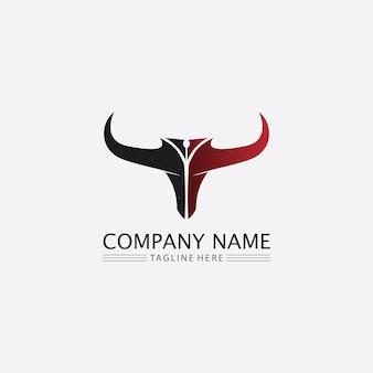 Бык голова буйвола корова животное талисман дизайн логотипа вектор для спорта рог буйвол животное млекопитающие голова логотип дикий матадор