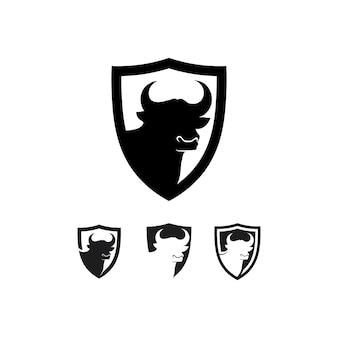 Bull and buffalo head cow animal  mascot logo design vector for sport horn buffalo animal mammals head logo wild matador