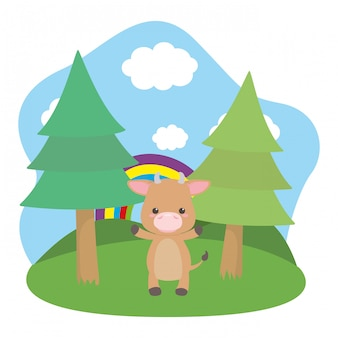 Bull cartoon  vector illustrator