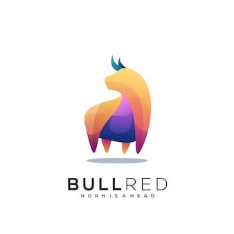 Bull colorful logo template