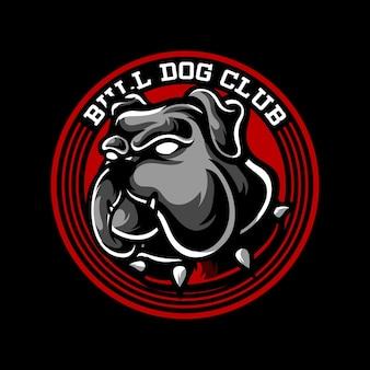 Bull dog club mascot logo