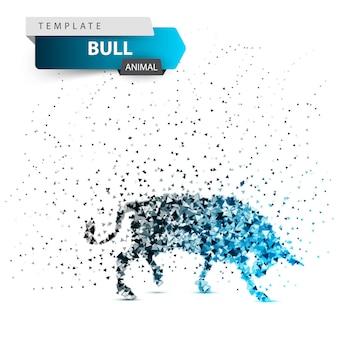 Bull dot illustration