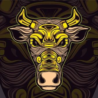 Игровой логотип bull esport logo
