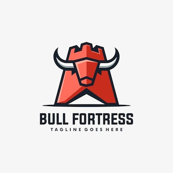 Bull fortress illustration vector