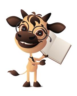 Bull funny cartoon illustration.
