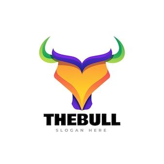 Bull head logo template design