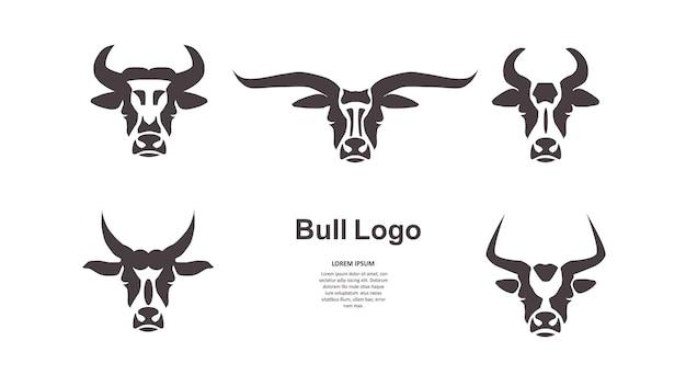 Бычья голова. шаблон логотипа