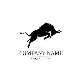 Бычий рог и логотип буйвола и символы шаблонов приложений