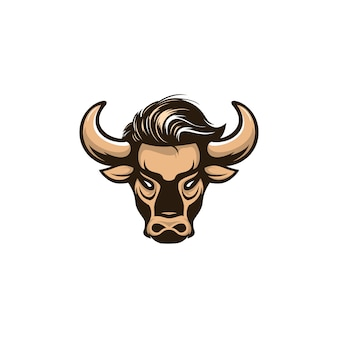 Bull illustration logo