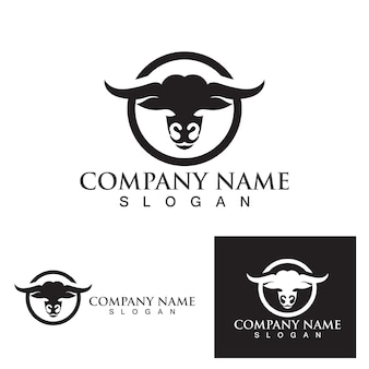 Бык логотип и символ вектор eps
