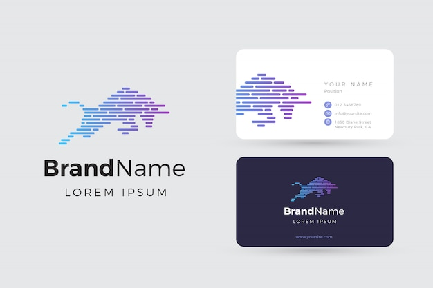 Bull logo and business cards
