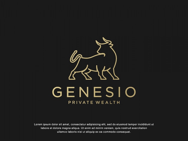 Bull logo capital logo