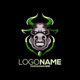 Бык дизайн логотипа