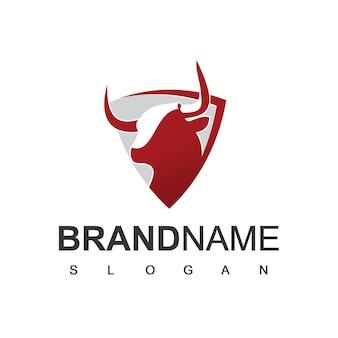 Бык логотип фермы крупного рогатого скота и символ команды киберспорта