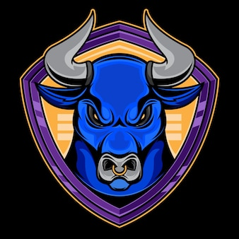 Bull logo illustration